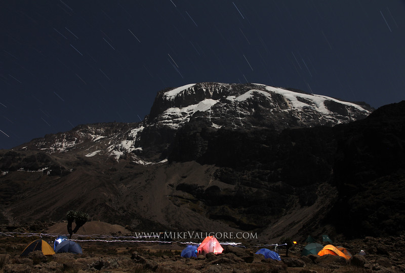 Machame Camp<br /> <br /> Of my six nights spent on Kilimanjaro, the best views were from Machame camp.