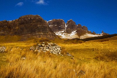 Painterly Affect. Old Man of Stoer. Isle of Skye. John Chapman.