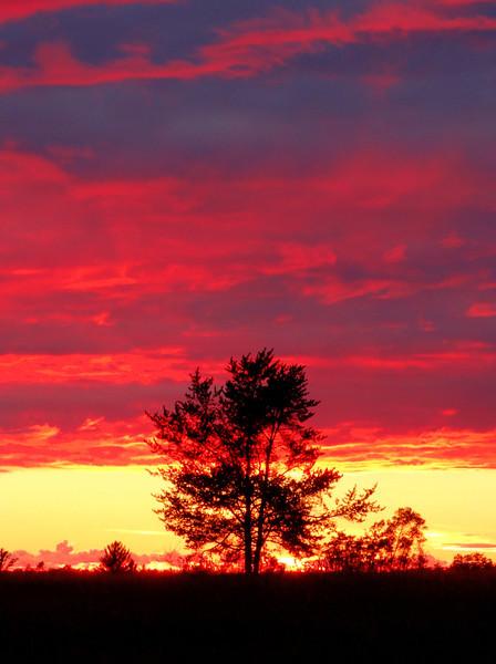 Sunset on a Wisconsin prairie