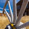 Wagon Wheel in a Field