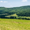 Panoramic view from the upland hill and forest at the corner of Highup and Hunter roads, Jasper, Steuben County, New York
