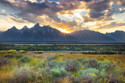 Sunset on the Teton Range 2
