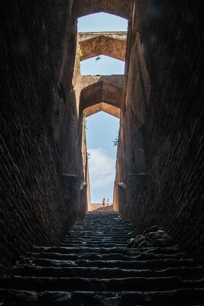 An old stepwell (baoli) in Rohtas Fort, near Jhelum