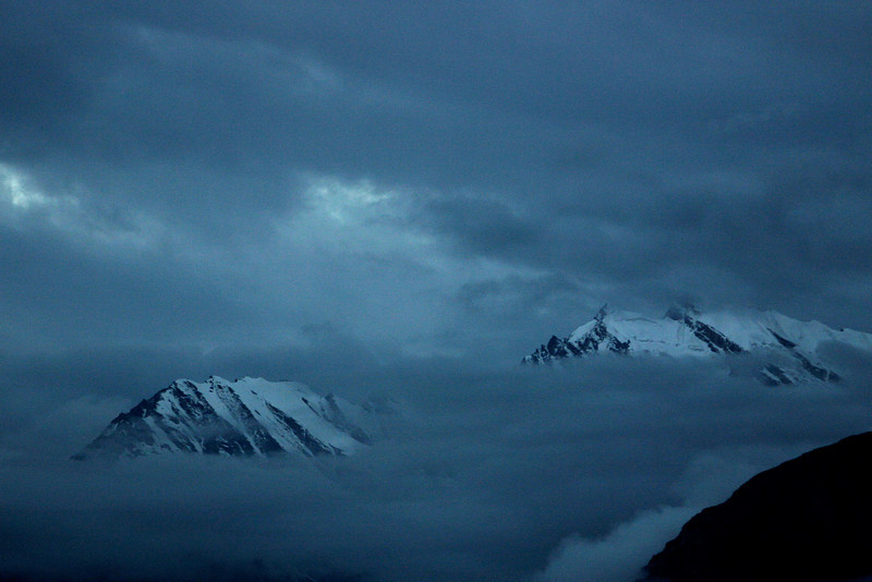 Islands in the clouds. Hunza, northern Pakistan