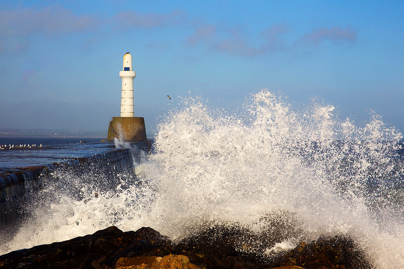 Rough Seas Aberdeen Scotland. John Chapman.