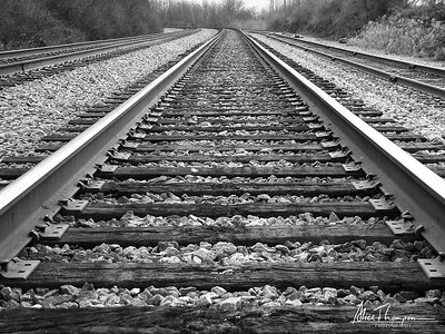 Railroad Tracks in Black & White