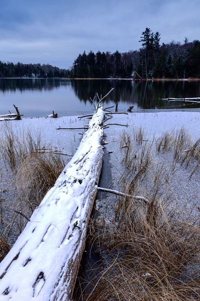 Ice forming on Helen Lake 01