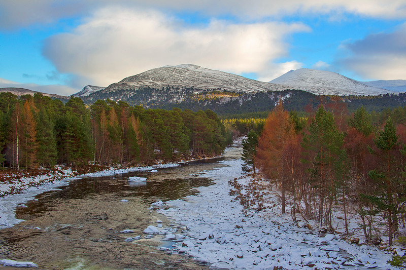 The River Dee with the Mountain of Lochnagar Behind. John Chapman.