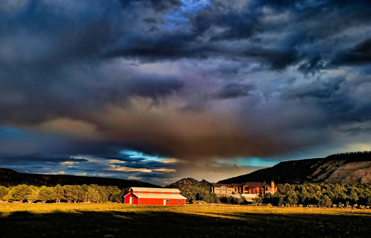Storm approaches Torrey Utah