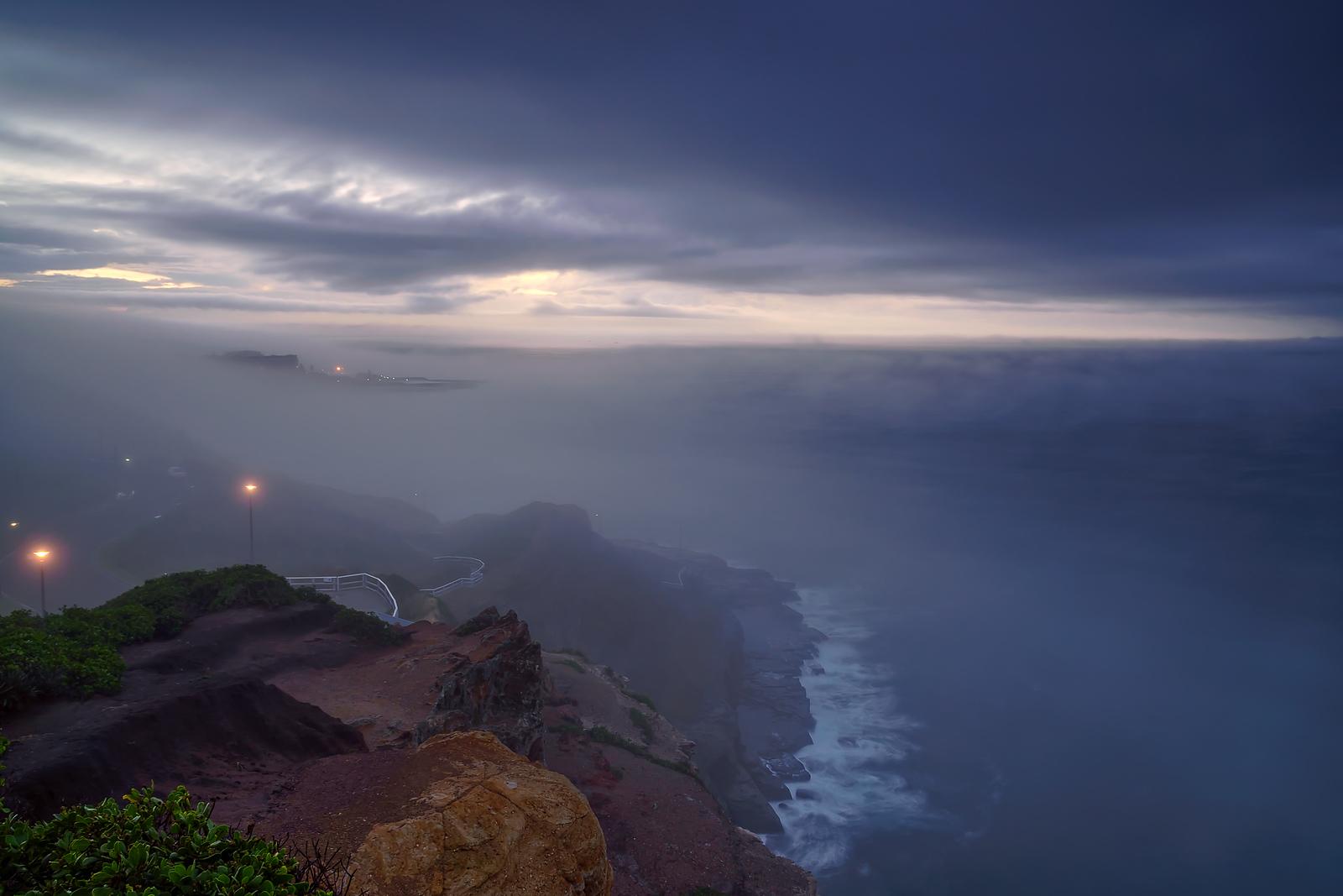 Foggy Newcastle Sunrise