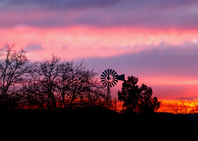 Lincoln Windmill at Sunset