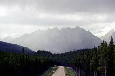 The Queen Elizabeth Range, Jasper National Park, August 1984. Ektachrome with Canon F-1, 70-210mm f4.0.