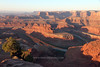 Dead Horse Point<br /> <br /> The lesser-known state park at Dead Horse Point is an exceptional place to view a sunrise or sunset.