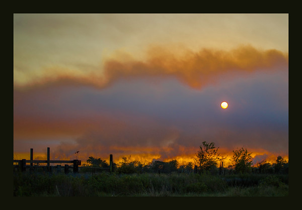 Marsh Fire in Holly Beach Louisiana