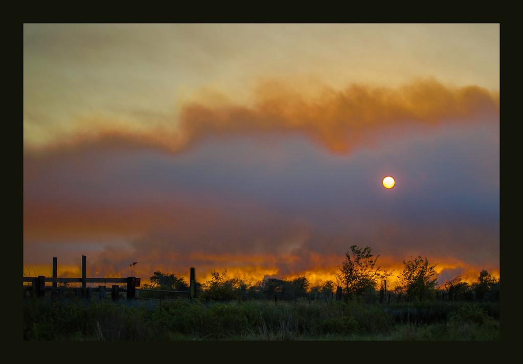 Marsh Fire in Holly Beach Louisiana