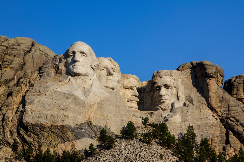 Mount Rushmore on a clear day