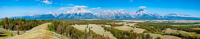 Teton Range from National Forest Road, Wyoming