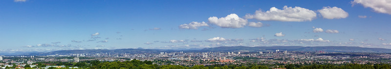Glasgow from Cathkin braes