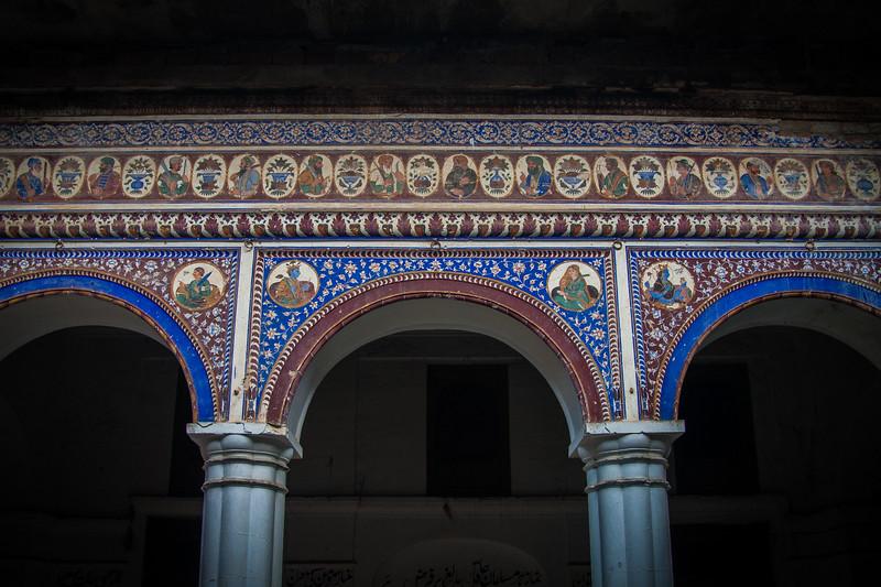 Motif on archway of Baba Khem Singh Haveli near Rawalpindi