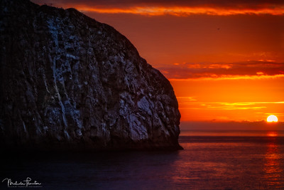 Sunset at Kicker Rock
