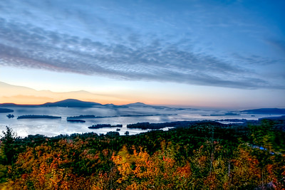 Dawn on Lake George from The Pinnacle