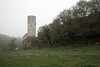 Early morning mist at Chateau de Gavaudun, SW France