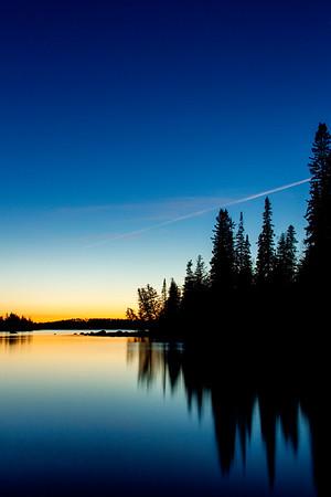 Nagagamisis Lake Sunset