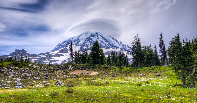 Mt. Rainier, as seen from Spray Park