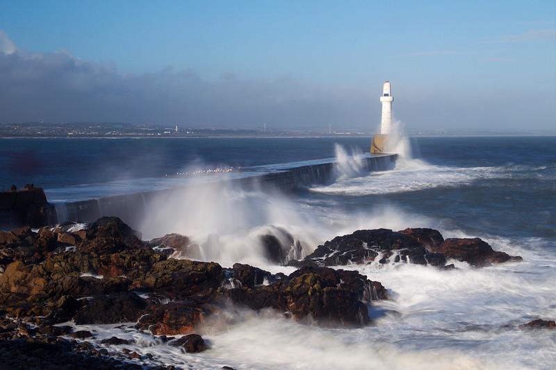 Stormy Bay of Nigg. Aberdeen. John Chapman.