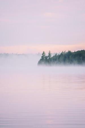 A foggy Adirondack sunrise