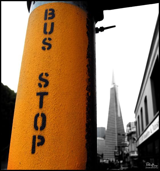 """Bus Stop In Orange"""