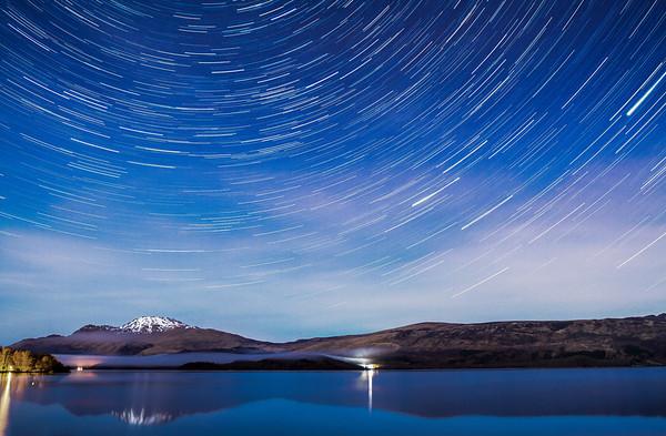 Star Trails over Ben Lomond