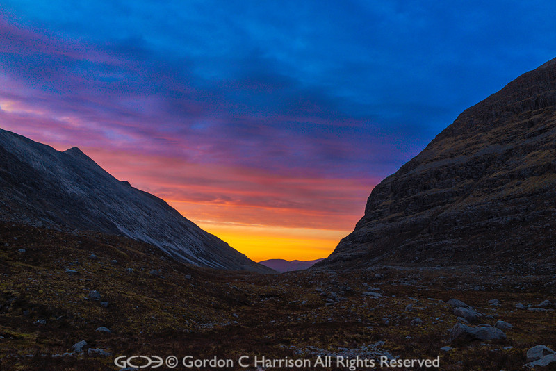Photo 3213: Sunrise at Corrie Dubh Mor in Torridon