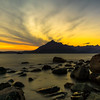 Sunset at Elgol behind the Cuillin Mountains, Isle of Skye, Scotland