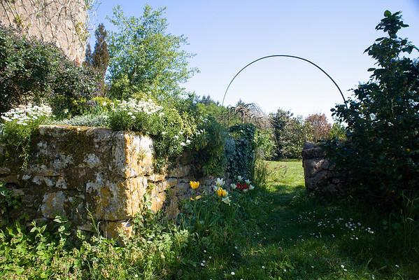 The Garden Gate at Jardins du Mayne, Gavaudun, SW France.