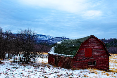 Keene Barn in Early Winter