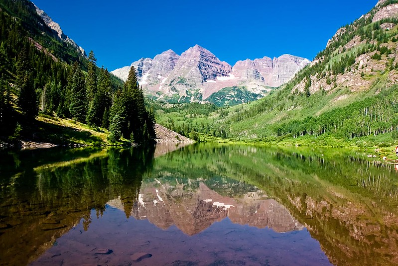 Maroon Lake and Maroon Bells, Colorado