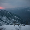 Sunset over an early winter snow near Shogran, Kaghan