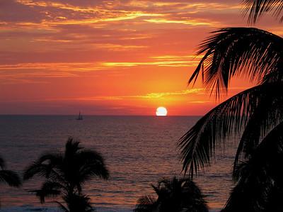 Tropical Sunset - Neuvo Vallarta, Mexico, January 2006