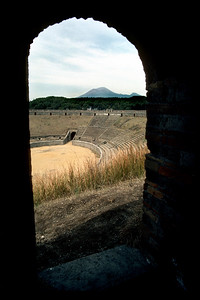 The Amphitheatre - ruins of Pompeii, Italy. February, 1984. Kodachrome with Canon F-1, 28mm f2.8.