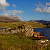 The Lonely Chair. With Ardvreck Castle behind. Assynt. Sutherland. John Chapman.