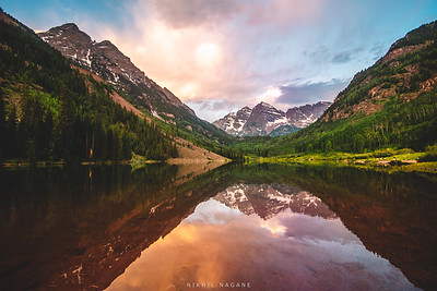 The Maroon Bells toll at blue hour #2