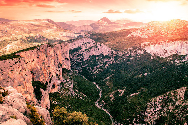 Gorge Du Verdon canyon in France.