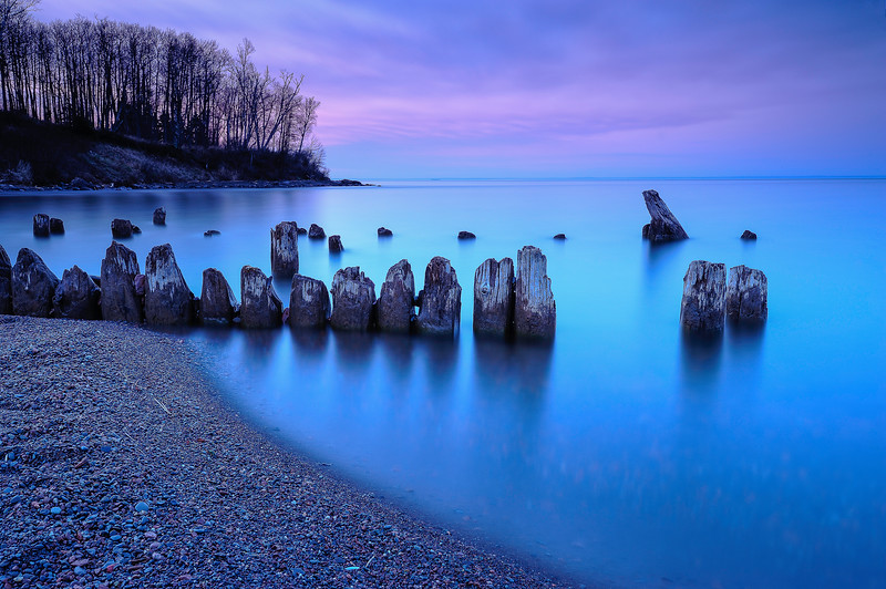 Mouth of the Split Rock River during the morning blue hour