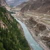 The Karakoram Highway and Hunza river near Karimabad, Hunza