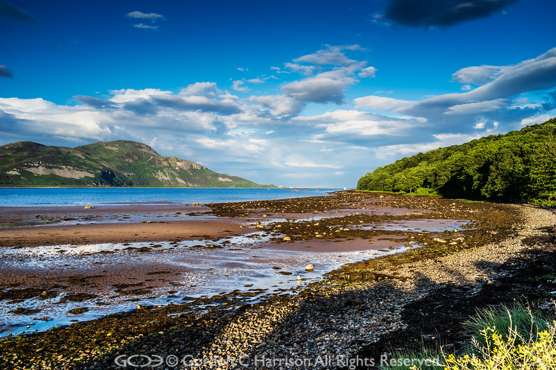 Photo 3348: Evening Delight, Holy Isle viewed the Isle of Arran, Scotland