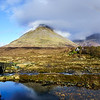 Sligachan, The Old Bridge, Isle of Skye, Scotland with a Rainbow and lovely Clouds