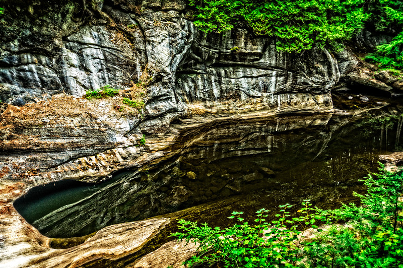 Caves and Pond
