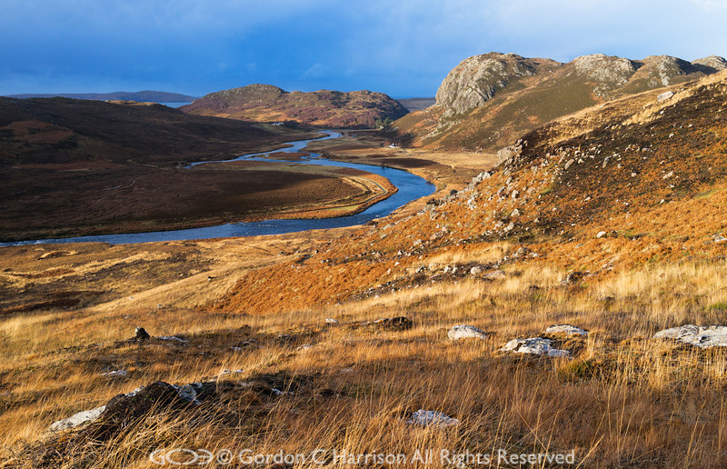 Photo 3202: Gruinard River and Inchina, Wester Ross, Scotland