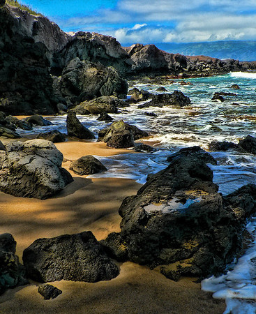 Slaughterhouse beach, Maui.